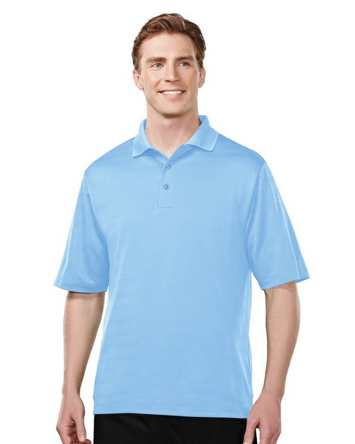 Tri-Mountain Performance 427 Continental Polyester Textured Knit Polo Shirts