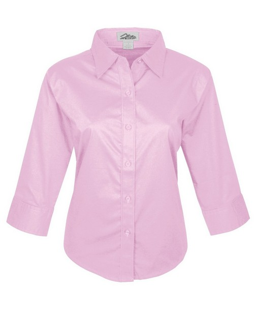 Tri-Mountain 731 Womens cotton stretch poplin 3/4 sleeve shirt
