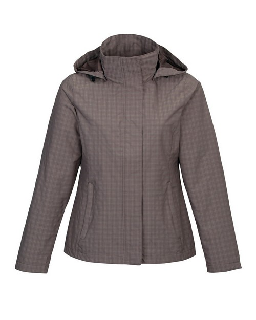 Tri-Mountain 8023 Women's 75% Nylon 25% Polyester Mini Plaid Rain Resistant Jacket