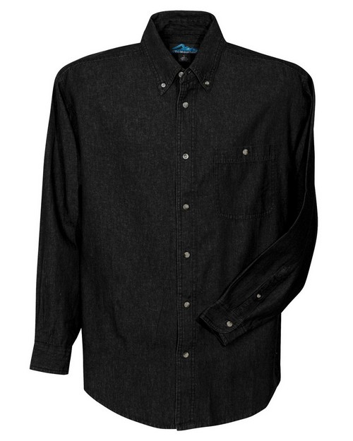 Tri-Mountain 829 Men's denim long sleeve shirt