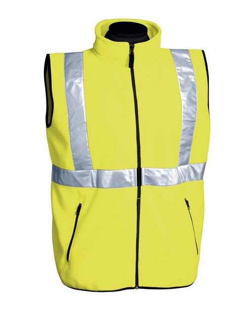 Tri-Mountain 8330 Perimeter Polyester Anti Pilling Safety Fleece Vest ANSI Class 2