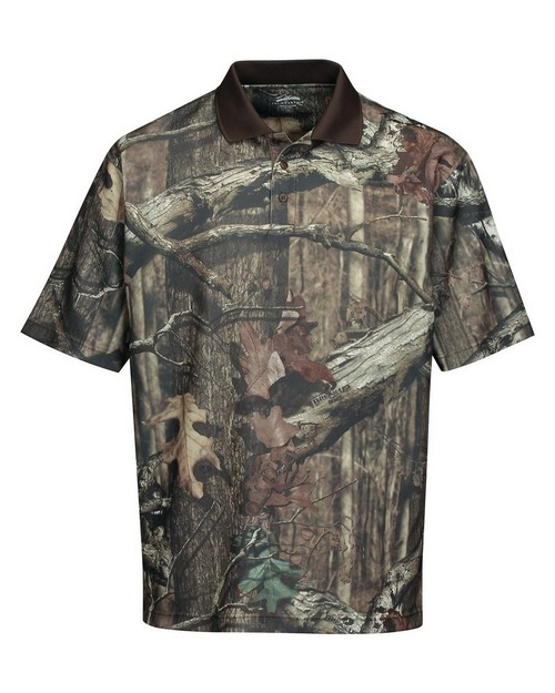 Tri-Mountain K122CG Men's Polyeater Real Tree Print Short Sleeve Shirt