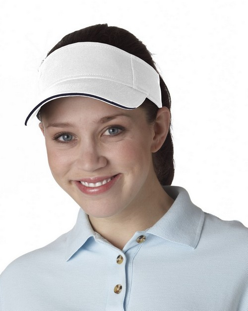 Ultraclub 8113 Sandwich Brushed Visor