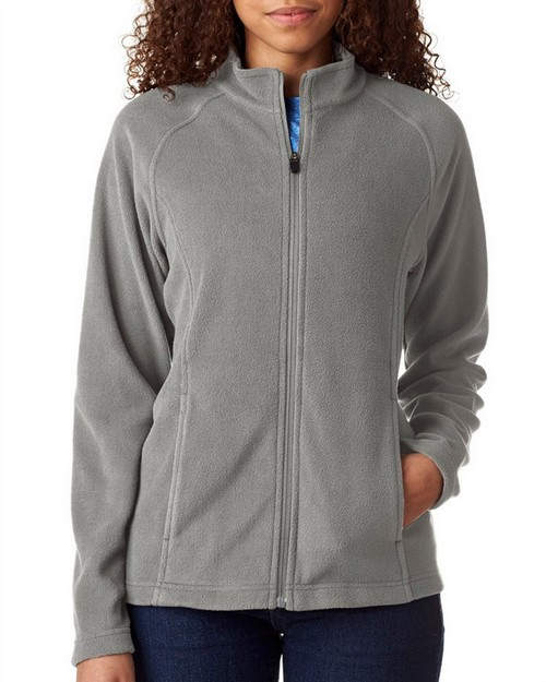 Ultraclub 8181 Ladies' Cool & Dry Full-Zip Micro-Fleece