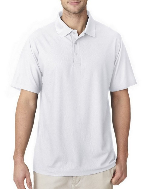 Ultraclub 8240 Men Cool & Dry Pebble Knit Polo