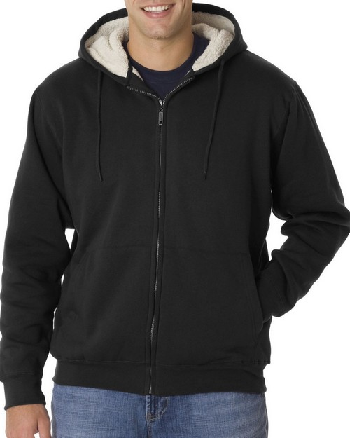 Ultraclub 8450 Sherpa-Lined Fleece Hood